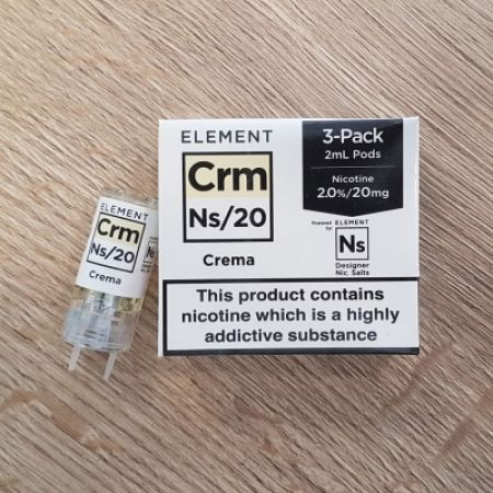 "Nikotinsalz Liquid aspire Gusto - ELEMENT ""CRM"" Ns10 POD, 3 Stück"