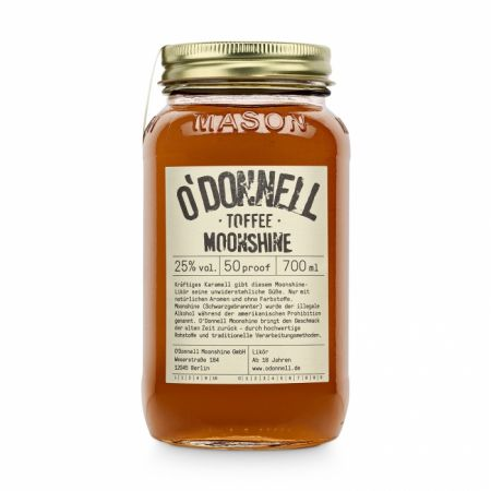 Toffee 25% vol. Likör von O'DONNELL MOONSHINE 700ml