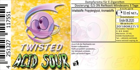 Twisted Acid Sour 10ml