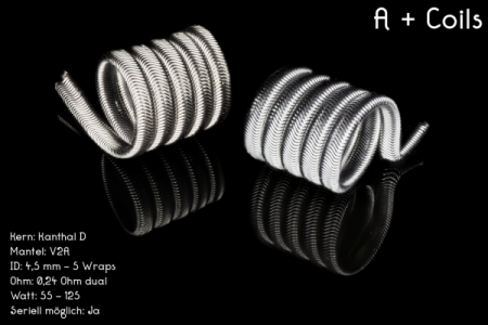 Franktastische - A+ Alien Coil Kth D V2A Dual 0,24 Ohm