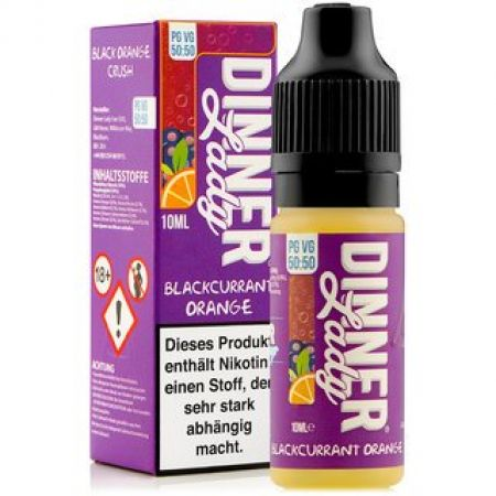 Dinner Lady Blackcurrant Orange 6mg/ml Nikotin 50:50 10ml
