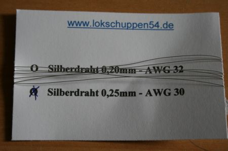 Silberdraht 0,25 mm AWG 30 1lfdm Silver Wire