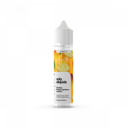ONLY FRUITS Mango Ananas Aroma 15ml Longfill Sucralose frei