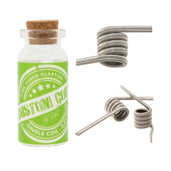 2 x Fine Fused Clapton - Handmade by Ziko green Label 0,23 Ohm Single Ni80